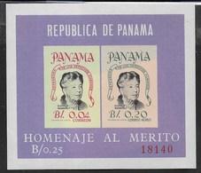 PANAMA - 1964 - ELEANOR ROOSVELT - FOGLIETTO NUOVO ** (MICHEL 25 - YVERT 14) - Celebrità