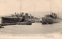 83 LA SEYNE SUR MER TORPILLEURS RUSSES AUX FORGES ET CHANTIERS DE LA MEDITERRANEE CLICHE UNIQUE - La Seyne-sur-Mer