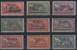 MEM 79 - MEMEL Merson N° 82-84-85 + 89/94 Neuf* - Neufs
