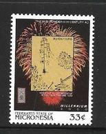 MICRONESIE 1999 FEUX D'ARTIFICE-INVENTION DE LA POUDRE  YVERT N°711  NEUF MNH** - Micronésie