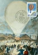 CM-Carte Maximum Card # France-1971 #Transports# Ballon,balloon # Centenaire De La Poste  # Obl. Musée Postal Paris - Cartoline Maximum