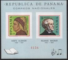 PANAMA - 1966 - DANTE ALIGHIERI - RICCARDO WAGNER - FOGLIETTO NUOVO ** (MICHEL 48) - Celebrità