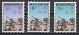 1962. Katanga. COB N° 79/81 *, MH. Cote 2018 : 5,50 €. - Katanga