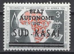 1961. Sud-Kasaï. COB N° 14 Cu *, MH. Cote 2018 : 20 €. - Sud-Kasaï