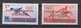 1961. Sud-Kasaï. COB N° 18/19 *, MH. Cote 2018 : 140 €. (Charnières Très Légères Et Peu Visibles) - Sud-Kasaï