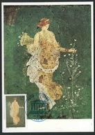 1998  Affresco Di Pompei, Cartolina Maximum Francese UNESCO - Religione