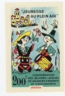 FRANCE - VIGNETTE 9,5X14,5 CM - LA JEUNESSE EN PLEIN AIR 1959 - Erinnophilie