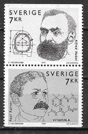 Suède 1997 2007/2008 Neufs En Paire Prix Nobel - Unused Stamps