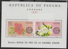 PANAMA - 1966 - FIORI - 50° CAMERA DI COMMERCIO - FOGLIETTO NUOVO ** (MICHEL 45) - Flora