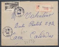 FRANCE - 24.7.1950, Reco Cover From TOULON SUR MER (Var)  To CAEN (Calvados) - 1921-1960: Modern Period