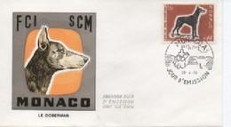 FDC MONACO  EXPOSITION CANINE INTERNATIONALE   N° YVRT ET TELLIER  816  1970 - FDC