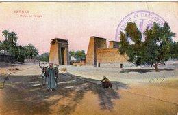 "3442 Cpa Karnak - Phylon Et Temple "" Cachet Tirailleurs Malgaches "" - Unclassified"