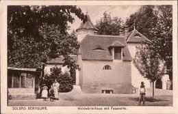 ! Alte Ansichtskarte Solbad, Bernburg, Waldwärterhaus Mit Fasanerie, 1918 - Bernburg (Saale)