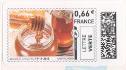 Digital  Stamp Lettre Verte France 2015 Honey Jar And Dipper, Miel Honig - Nuevos