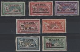 MEM83 - MEMEL Petit Lot Mersons Neufs**/* - Memel (1920-1924)