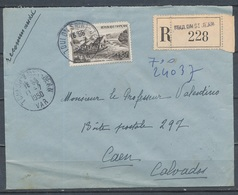 FRANCE - 11.7.1950, Reco Cover From TOULON SAINT JEAN (Var)  To CAEN (Calvados) - 1921-1960: Modern Period