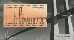 "DINAMARCA /DENMARK /DÄNEMARK  -EUROPA 2018 - ""PUENTES.- BRIDGES - BRÜCKEN - PONTS"".- HOJITA BLOQUE - AGOTADA En ORIGEN - 2018"