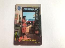 Virgin Islands - Woman On Phone 13CBVA - Virgin Islands