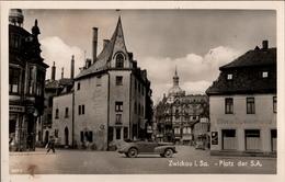 ! Alte Ansichtskarte Zwickau In Sachsen, Platz Der SA, Autos, Opel ? - Zwickau