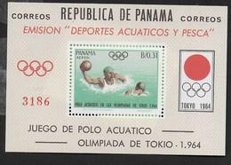 PANAMA - 1964 - OLIMPIADI ESTIVE TOKIO '64 - PALLANUOTO - FOGLIETTO NUOVO ** (MICHEL BL 22) - Estate 1964: Tokio