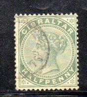 APR2139 - GIBILTERRA 1886 , Unificato N. 8  Usato  (2380A) . CA - Gibilterra