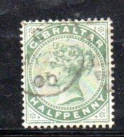 APR2140 - GIBILTERRA 1886 , Unificato N. 8  Usato  (2380A) . CA - Gibilterra