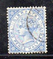 APR2142 - GIBILTERRA 1886 , Unificato N. 11  Usato  (2380A) . CA - Gibilterra