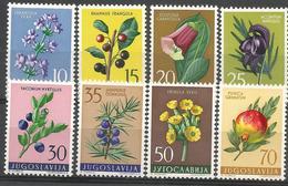 YU 1959-882-9 FLOWERS, YUGOSLAVIA, 1 X 8v , MNH - Nuovi