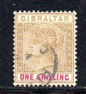 APR2146 - GIBILTERRA 1898 , Shilling Unificato N. 36  Usato  (2380A) . CA - Gibilterra