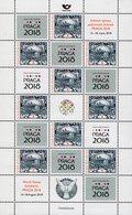 Czech Republic - 2018 - Alfons Mucha - Prague Castle - Praga 2018 Stamp Exhibition - Limited Edition Sheet With Hologram - Czech Republic