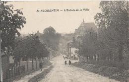 Carte Postale Ancienne De Saint Florentin L'entrée De La Ville - Saint Florentin