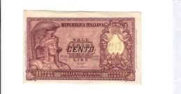 100 Lire 1951 Italia Elma Tascritta 1953 Al D.  LOTTO 2692 - [ 2] 1946-… : Republiek