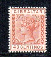 APR2147 - GIBILTERRA 1889 , Unificato N. 25  * Linguella Invisibile  (2380A) . CA - Gibilterra