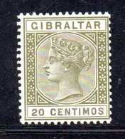 APR2148 - GIBILTERRA 1895 , Unificato N. 30  *** MNH  (2380A) . CA - Gibilterra