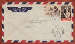 Luftpost, Maedchen + Bora Bora, Papete Ile Tahiti Nach Sydney 1957 (77653) - Briefe U. Dokumente