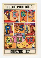 FRANCE - VIGNETTE 8X12 CM -  ECOLE PUBLIQUE 1977 - Erinnophilie