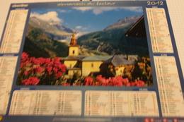 ALMANACH DU FACTEUR Calendrier Des Postes 2012, SEINE-MARITIME, ARGENTIERES, LAUTARET, Carton Souple.2 Photos. - Calendriers
