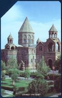 ARMENIA 25 UNITS URMET MAGNETIC PHONECARD TELEPHONE CARD TELECARTE CHURCH PERFECT - Arménie