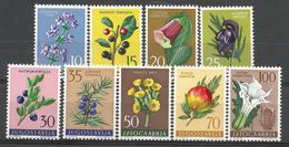 YU 1959-882-90 FLOWERS, YUGOSLAVIA, 1 X 9v , MNH - Nuovi