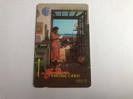 Virgin Islands - Woman On Phone 18CBVB - Virgin Islands