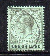 APR2152 - GIBILTERRA 1912 , Unificato N. 68  Usato  (2380A) . MultiCA . - Gibilterra
