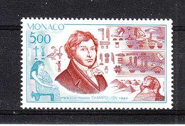Monaco   -  1990. Champollion E Geroglifici. Champollion And Hieroglyphics. MNH - Egittologia