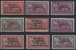 MEM 91 - MEMEL Merson Lot PA Entre N° 20/29 Neuf* - Memel (1920-1924)