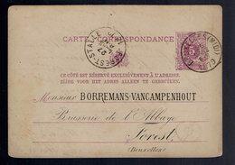 CP 10 Repiquage Borremans-Campenhout Brasserie De L'Abbaye Forest De Bruxelles ( Midi ) 26 Mars 1879 => Forest-Stalle - Postwaardestukken