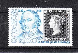 Monaco    -  1990. R. Hill E Penny Black. MNH - Rowland Hill