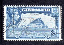 APR2156 - GIBILTERRA 1935 ,  Unificato N. 107B  Usato  (2380A) .  Dent 14 - Gibilterra