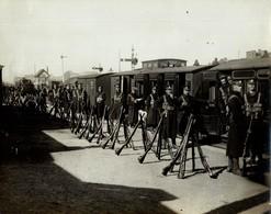 IRISH RAILWAY STRIKE KINGS BRIDGE RAILWAY CHEMIN DE FER EISENBAHN 21*16CM Fonds Victor FORBIN 1864-1947 - Trenes