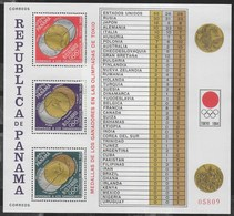 PANAMA - 1965 - GIOCHI OLIMPICI ESTIVI TOKIO '64 - MEDAGLIERE - FOGLIETTO NUOVO ** (MICHEL BL 31A) - Summer 1964: Tokyo