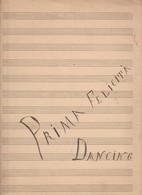 SPARTITO MUSICALE Manoscritto PRIMA FELICITA' DANCING - Ridolfi - Spartiti