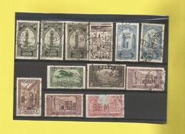 Perforé Perforés Perfin De France  Colonie Du Maroc 12 Timbres Perforés   Voir Scanners - Marokko (1891-1956)